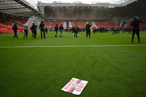 Protesters are calling for the Glazer family to sell the club after they agreed to join the European Super League.