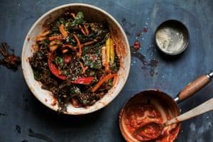 Never throw away veg again: Tom Hunt's vegan veg scrap kimchi.