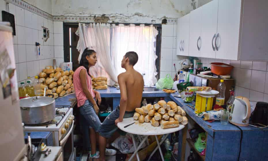 'I liked how they were mirroring each other's body language, unconsciously' ... Moni and Juanjo's Kitchen on Carnival Night, 2013.