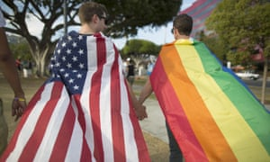Celebrations of the supreme court ruling on same-sex marriage on 26 June 26 2015, in West Hollywood, California. The landmark ruling will be part of government courses.