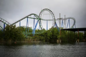 The rollercoaster at the abandoned park