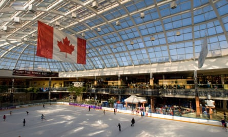 The skating rink at West Edmonton Mall in Edmonton, Alberta, Canada.