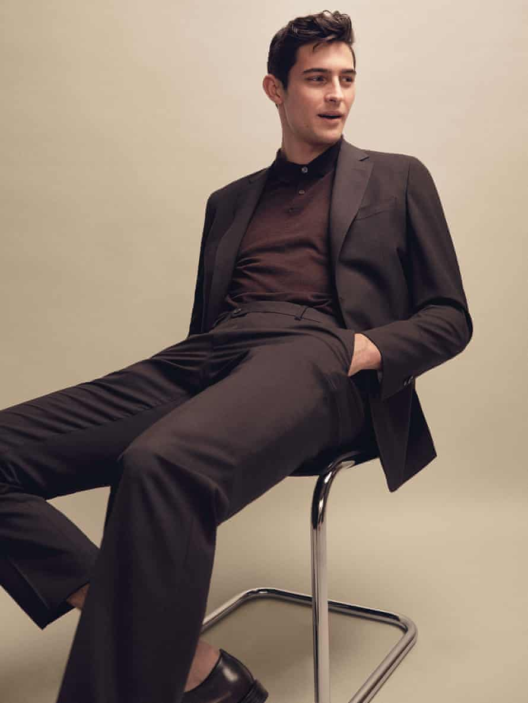 Jacket, £299, trousers, £109, massimodutti.com