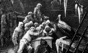 An engraving by Gustave Dore from Samuel Taylor Coleridge's The Rime of the Ancient Mariner, the original ballad of scurvy.