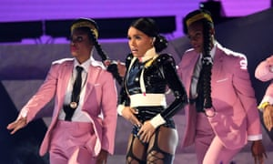 Janelle Monae performing during the Grammy awards.