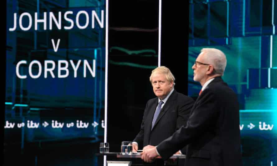 Boris Johnson and Jeremt Corbyn during the ITV leaders' debate