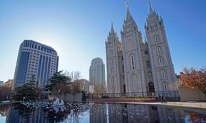 L'église de Jésus-Christ des saints des derniers jours au centre-ville de Salt Lake City.