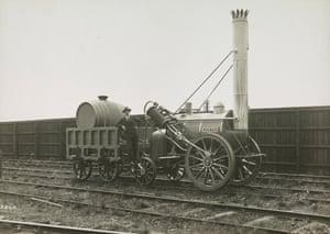 The First Steam Engine – Stephenson's Rocket, c. 1910