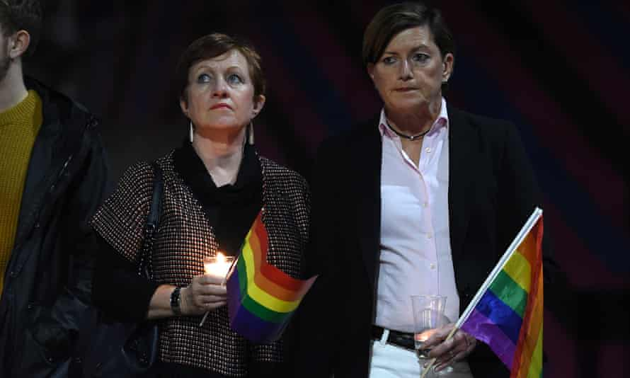 Christine Forster (right) and partner Virginia Edwards