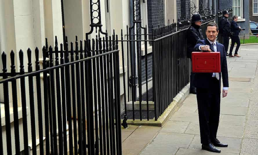 Chancellor of the Exchequer George Osborne outside 11 Downing Street