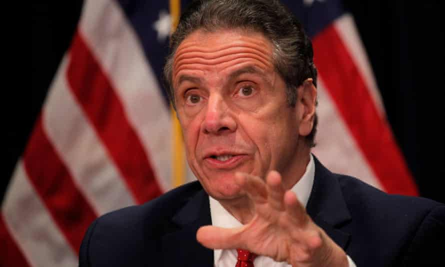 Andrew Cuomo speaks during a news conference at his offices in New York City on Wednesday.
