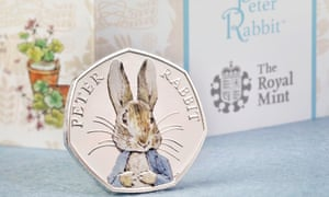 The Royal Mint's special, coloured edition of its Peter Rabbit coin