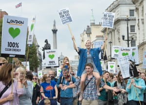 The People's Climate March rally in London last year.