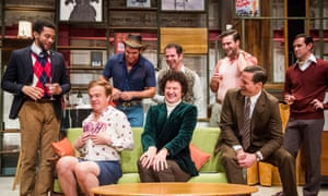 Mark Gatiss, centre, leads a pleasingly large cast in The Boys In The Band.