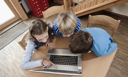 Children are spending three hours a day using the internet on an average.
