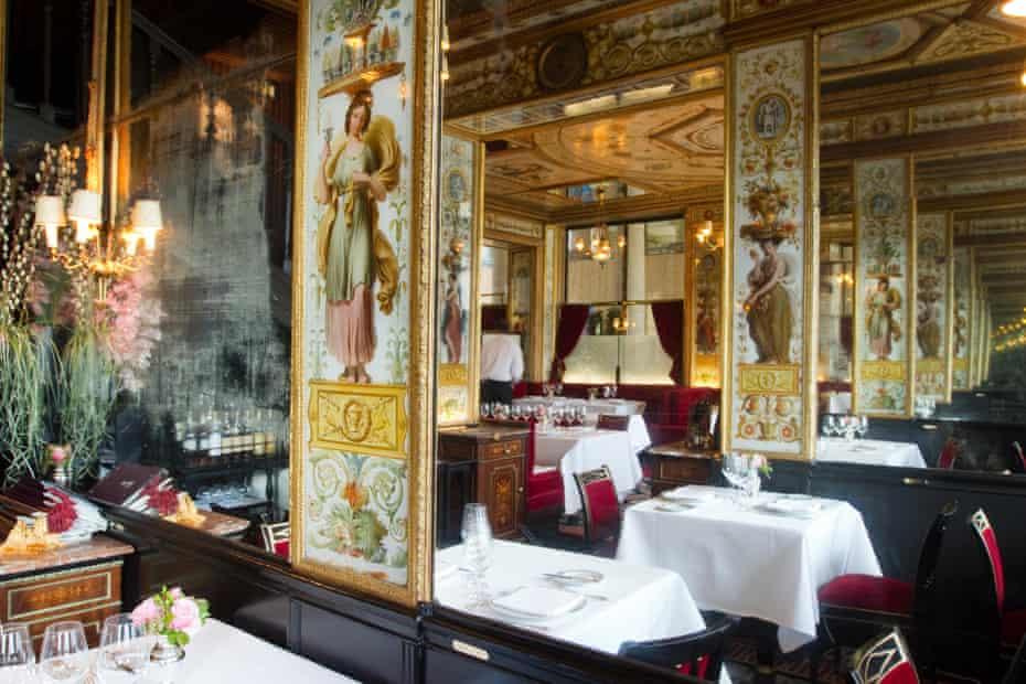 The historic restaurant Le Grand Vefour in Paris France.