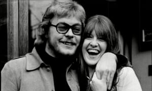 Hywel Bennett with the TV presenter Cathy McGowan early in 1970; they married later that year.