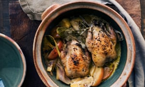 Pot of gold: roast partridge with parsnips and smoked garlic.