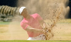 Venezuela's Jhonattan Vegas is just glad to be playing after a nightmare week, in action here on day one of the Open at Carnoustie.
