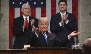 President Donald Trump delivers his first State of the Union address on 30 January