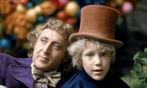 Golden ticket: Gene Wilder as Willy Wonka, Peter Ostrum as Charlie Bucket.