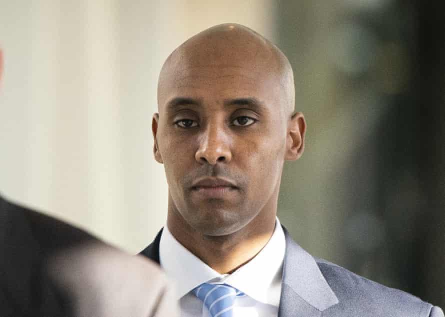 Former Minneapolis police officer Mohamed Noor walks to court in Minneapolis