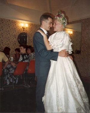 Damian Robinson and Amanda Rogers at their first wedding in 1994.