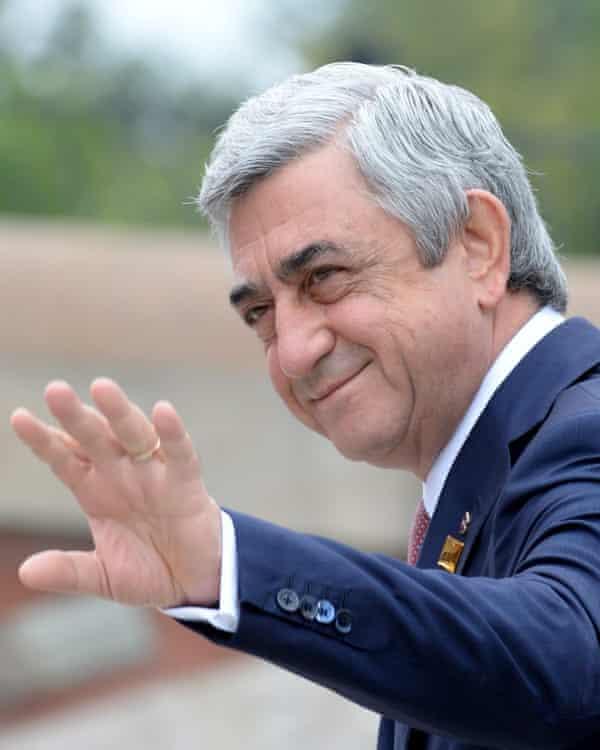 Serzh Sargsyan in Warsaw in July 2016.