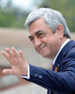 Serzh Sargsyan in Warsaw in July 2016.