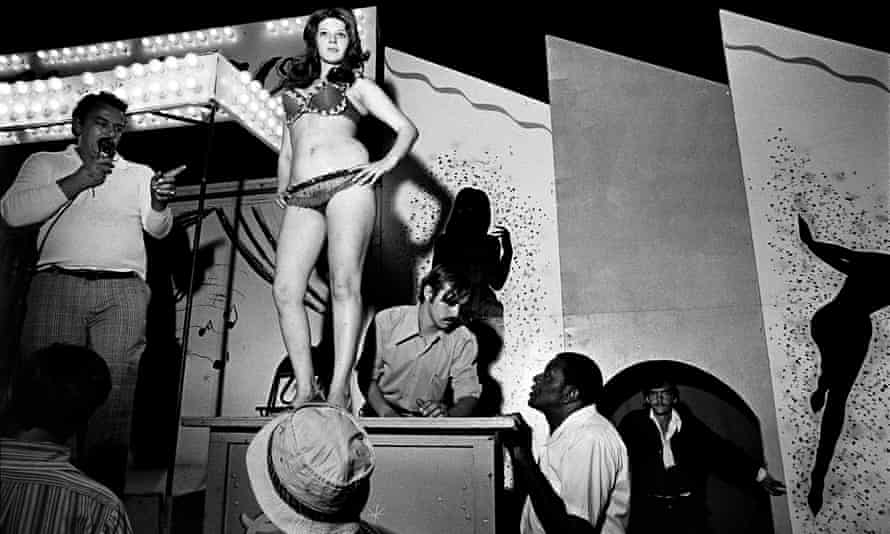 Raw power … Lena on the Bally Box, from the series Carnival Strippers.