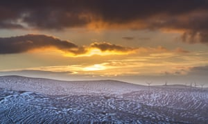 Reader William Starkey's photograph shows the setting sun above the eastern Ochil Hills. The turbines of the Burnfoot Hill wind farm can be seen to the right of the image, taken from the summit of Innerdownie Hill.