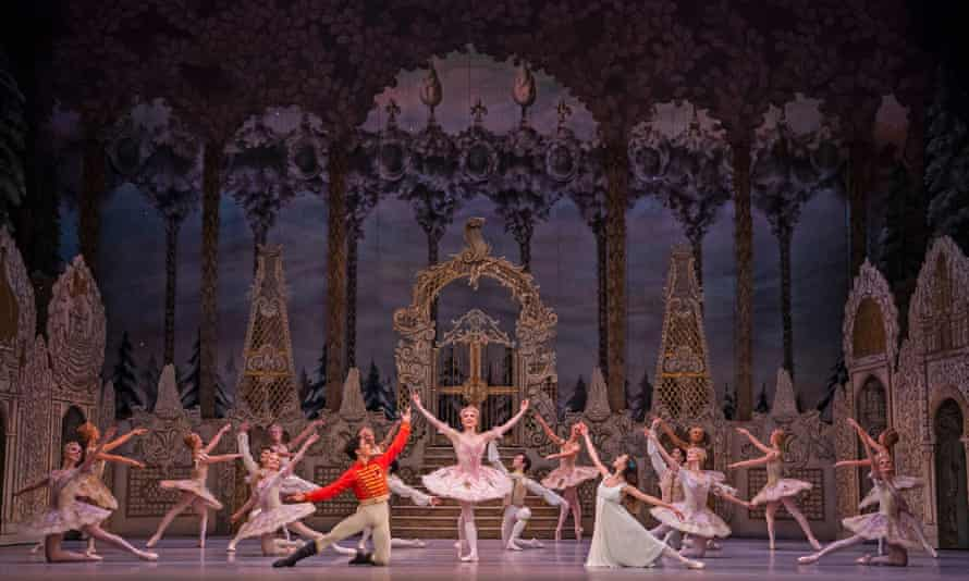 The show will go on, after all ... A scene from The Nutcracker at the Royal Opera House.