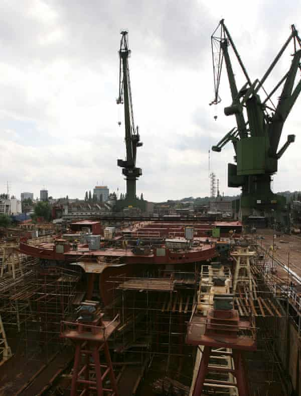 The shipyard in Gdansk struggled to adjust to the collapse of the communist bloc and to survive under EU competition laws and market conditions.