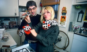 Debbie Harry and Chris Stein at home