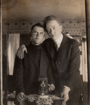 "And that is what appears to have been used in what we're calling ""the first selfie"" of a romantic male couple (p. 297). Below their picture, the two men wrote: ""In the mirror.""Photograph Undated, 65 × 58 mm"