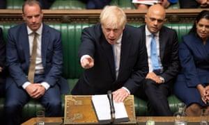 Boris Johnson in Commons