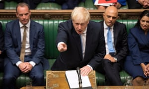 Boris Johnson takes part in his first session of parliament as prime minister.