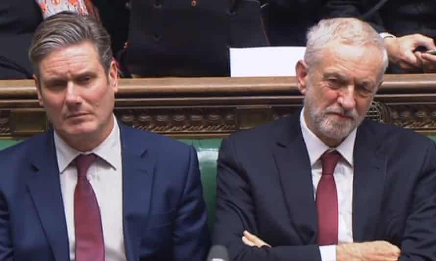 Sir Keir Starmer and Jeremy Corbyn in the House of Commons