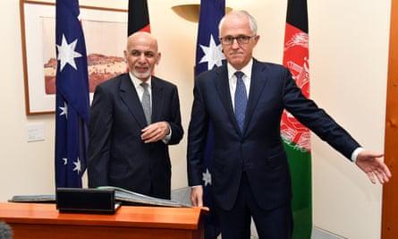 Ashraf Ghani and Malcolm Turnbull