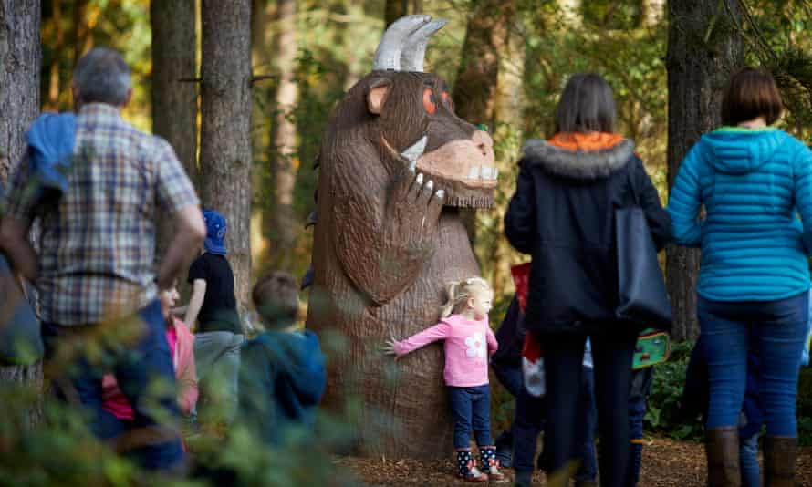 Gruffalo at Forestry Commission-managed Delamere Forest Park, Cheshire, UK.