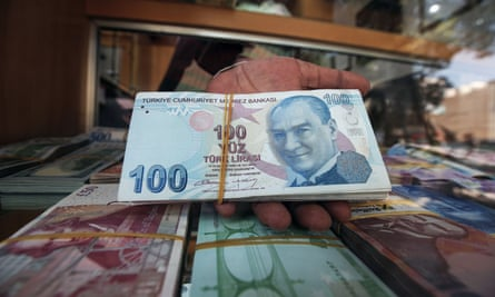 The value of the Turkish lira dropped significantly after the US president announced sanctions against Ankara.