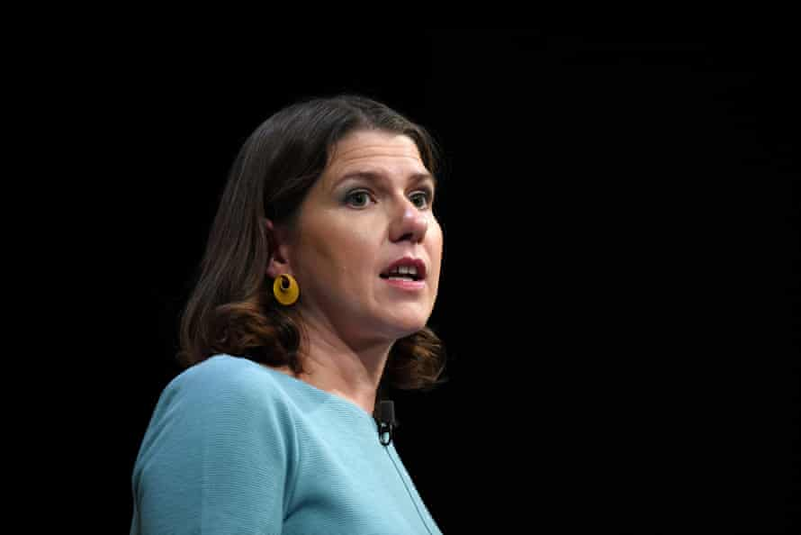 Jo Swinson gives her speech at the Liberal Democrats' party conference in Bournemouth last month.