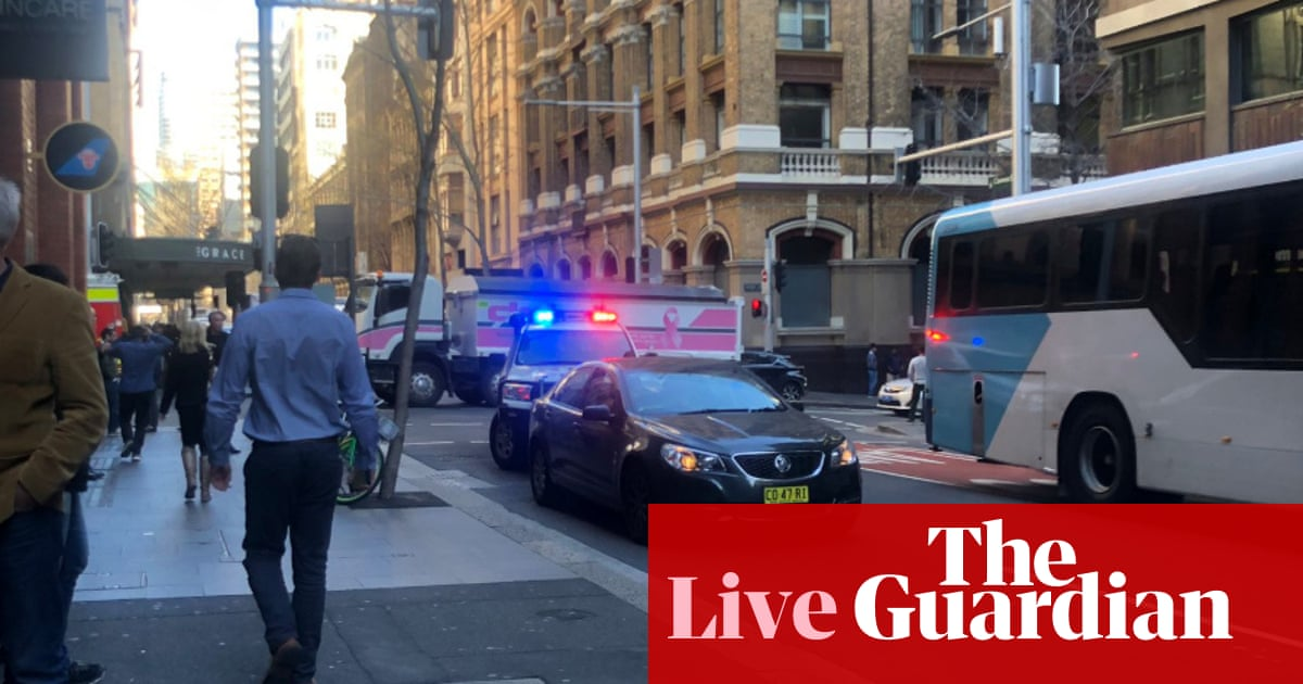 Sydney police incident: reports of armed man in CBD – live
