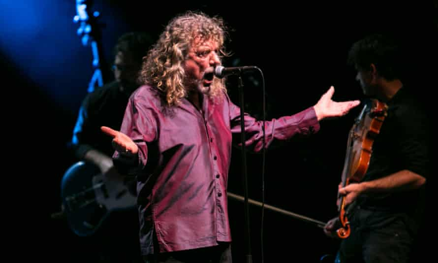 Knocking socks off ... Robert Plant performing at Wales Millennium Centre.