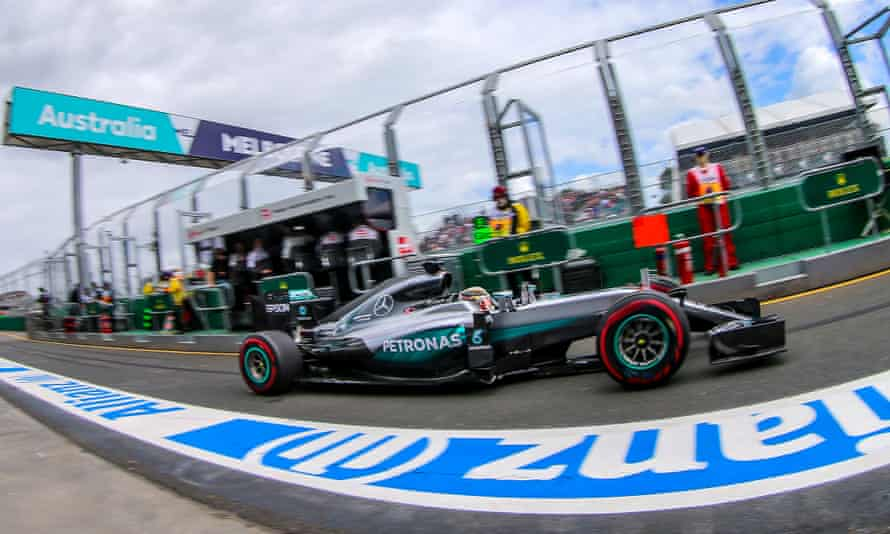 Lewis Hamilton took his Mercedes to an anticlimactic pole position in Melbourne.