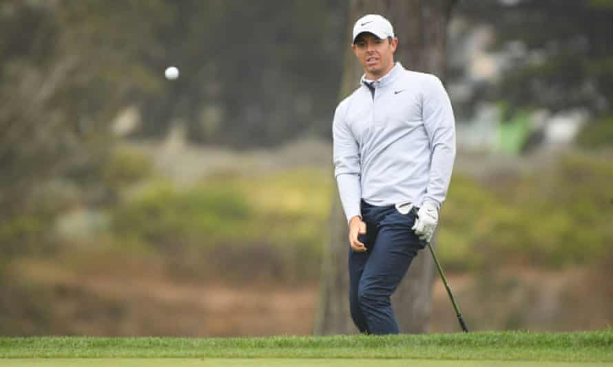 Rory McIlroy plays a shot on the 10th hole during Wednesday's practice round at Harding Park.
