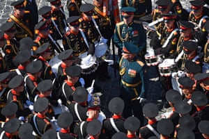 Drummers from the Moscow military music school