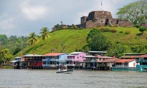 The San Juan River in Nicaragua beneath the El Castillo fort