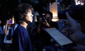 Teenager Amos Yee awaits his sentencing last year.