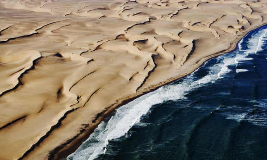 The coastal dunes of the Namib desert.